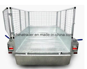 Checker Plater Welded Box Trailer with Optional Cage pictures & photos