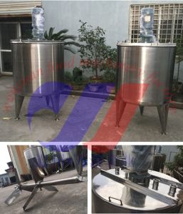 Single Layer Agitation Tank Stainless Steel 500L Mixing Tank pictures & photos