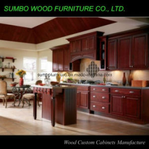 Trodictional Style Solid Wood Kitchen Cabinet (SBK-021)