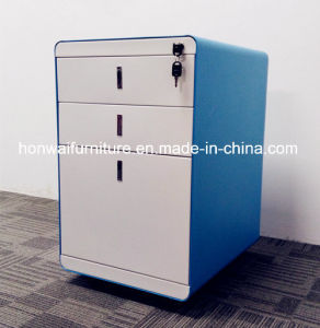 Modern Simple Design Steel Filing Cabinet with 3 Drawers