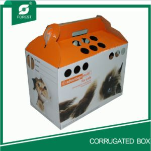 2016 China Color Paper Cat Carrier Box with Handle pictures & photos