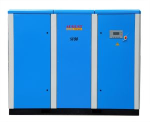 90kw/122HP August Stationary Air Cooled Screw Compressor pictures & photos