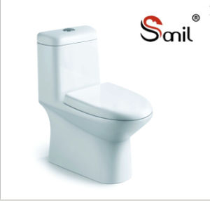 Floor Mounted One Piece Ceramic Siphonic Water Closet (S7555) pictures & photos