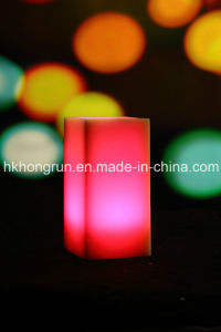 Colour Changing Real Wax Flameless LED Candle with Remote (HR33C)