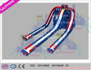 Lilytoys! Professional Safe Design Adult Inflatable Water Slide Triple Slide for Park (V-HP-053) pictures & photos