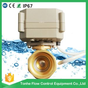 "2 Way Dn15 1/2"" 5V Motorized Motor Operated Ball Valves Mini Electric Valve pictures & photos"