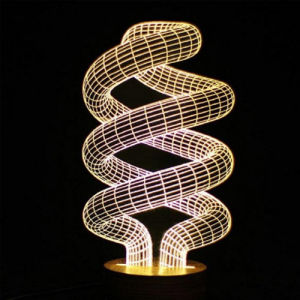 Creative Home Decor LED 3D Visual Spiral Artistic Acrylic Night Light
