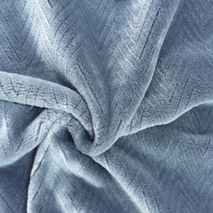 100% Polyester Wave 5 Jacquard Flannel Fleece pictures & photos