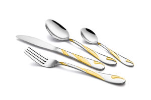 Stainless Steel with Golden Cutlery pictures & photos