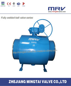 All Welded Ball Valve with Worm Gear