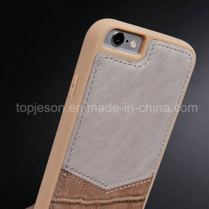 Khaki Color Crocodile Genuine Leather Case for iPhone 6/6s pictures & photos