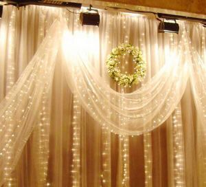 PVC Cable LED Christmas Curtain Light pictures & photos