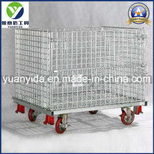 Heavy Duty Zinc Plated Wire Mesh Pallet Cage pictures & photos