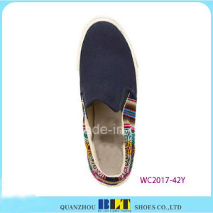 Hot Sale Slip-on Canvas Shoes with Flowers Printing pictures & photos