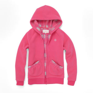 Youth Fashion Design Micro Polar Fleece Hoodies with Zipper (H038W) pictures & photos