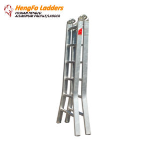 Factory 2*6 Functional Aluminium Folding Telescopic Extension Foldable Stair Ladder pictures & photos