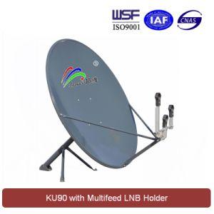 Ku 90cm Satellite Dish Antenna (with multifeed LNB holder) pictures & photos