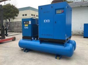 7.5kw Industrial Silent Screw Type Air Compressor with Air Tank pictures & photos