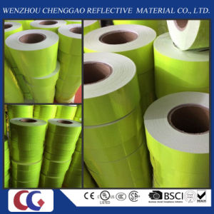Green High Visibility Vehicle Reflective Tape in Size 10cm Width pictures & photos