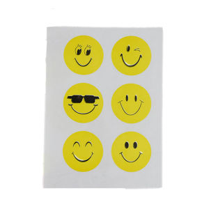 Self Adhesive Round Cute Emoji Sticker, Cartoon Sticker pictures & photos