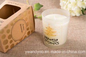 Scented 100% Soy Candle in Frosted Glass pictures & photos