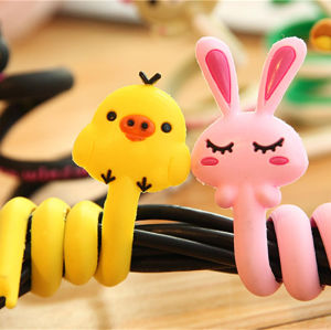 2016 Hot Selling Lovely Novelty Silicone Headphone Cord Winder pictures & photos