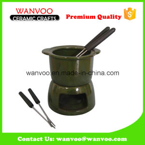 Porcelain Fondue Sets Wholesale for Cookware Dinnerware with Forks pictures & photos