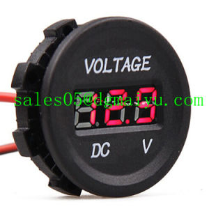 Automobile Motorcycle DC 12V to 24V LED Digital Voltmeter pictures & photos
