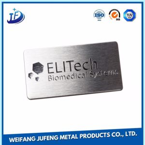 OEM Flat Round Stainless Steel Logo Plate Stamping Part for Enclosure pictures & photos