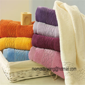 Promotional Colorful Bamboo Bath Towel Bath Sheet pictures & photos