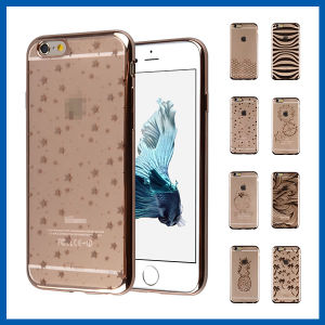 Soft TPU Crystal Clear Electroplate Case for iPhone 6 Plus pictures & photos
