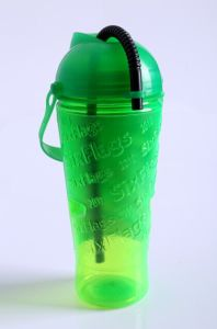 Plastic Cocktail Shaker Bottle with Cover pictures & photos