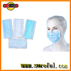 Non Woven 2 Ply 3 Ply 4 Ply Disposable Face Mask Clear Color Blue Color pictures & photos