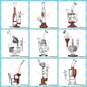 Plating Silver Mini Size Recycler Side Dount Glass Water Pipe pictures & photos