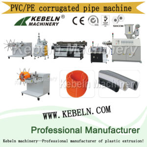 PVC Single-Wall Corrugated Pipe Extrusion Line pictures & photos