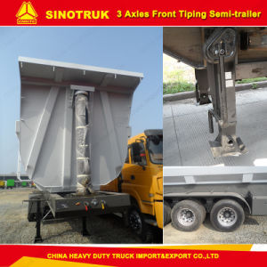 Truck Trailer Tri-Axle U Type Dump/Tipper Semi Trailer for Sale pictures & photos