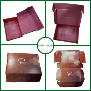 Packaging Cardboard Box Corrugated Kraft Paper Box with Inner Logo Printing pictures & photos
