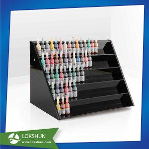 Acrylic Nail Polish Counter Display with Customized Slots China Acrylic Makeup Organizer Manufacturer pictures & photos