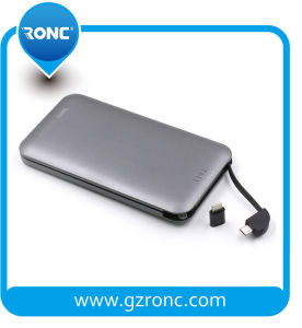 Promotional Gift Built-in Cable Power Bank 8000mAh pictures & photos