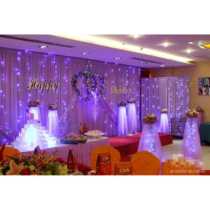 Pipe and Drape Wedding Backdrops Wedding Hall Decoration pictures & photos