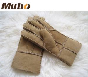 Ladies Double Face Austrlia Merino Sheepskin Leatehr Gloves pictures & photos