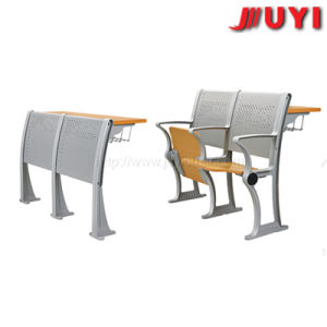 Jy-U202 Aluminium Alloy Leg Canteen School Classroom Chair with Writing Table pictures & photos