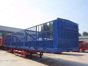 Tri-Axle 40 Ton Capacity Stake Semi Trailer/Fence Truck Trailer pictures & photos
