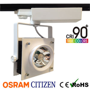 35W Square High CRI95 COB LED Tracklight with 120lm/W High Performance pictures & photos