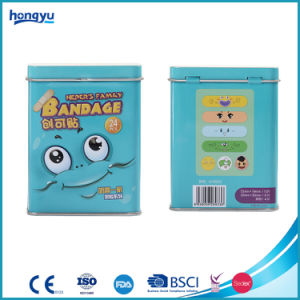 Tin Box Pack Cartoon PE Bandage for Pharmacy Sale pictures & photos