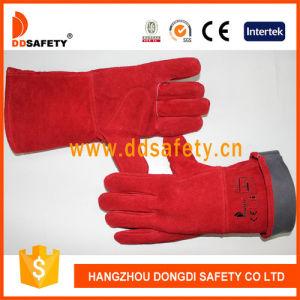 Red Cow Split Welder Safety Gloves Dlw615 pictures & photos