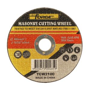 100*3*16mm Flat Type Stone Cut off Disc Masonry Cutting-off Wheel pictures & photos