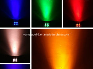 LED 4*18W RGBWA+UV 6in1 Battery Wireless DMX Wedding PAR Uplight pictures & photos
