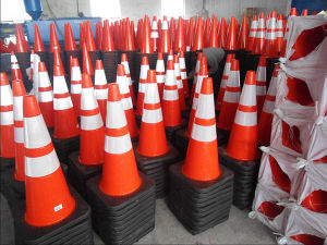 """28"""" Orange PVC Traffic Cone with Reflective Collar pictures & photos"""