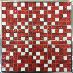 15X15mm, Glass and Stone Mixed, Red Color Mosaic (M815007) pictures & photos